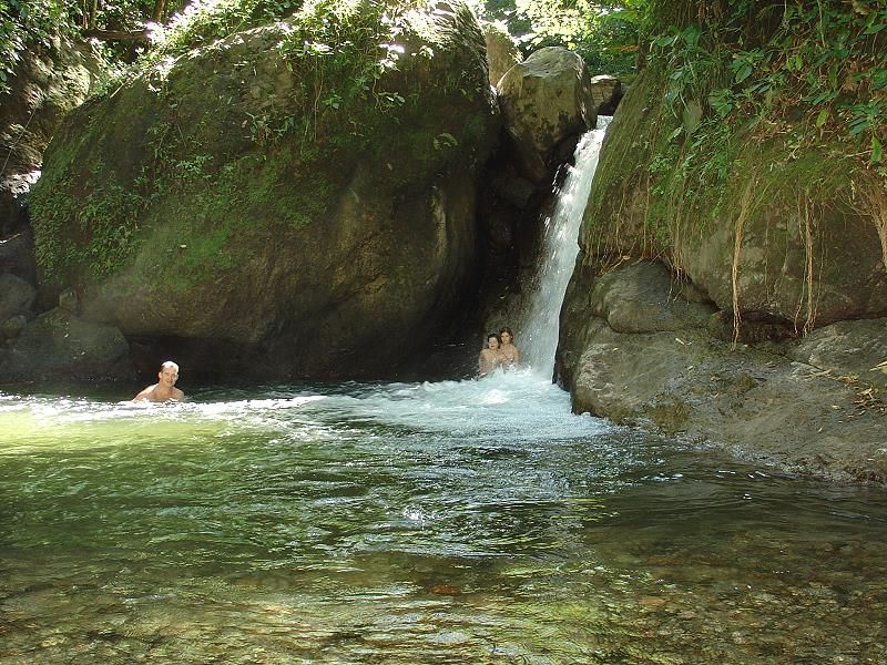 waterfall in tropical forest of Martinique